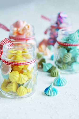24 Desserts Girls Love The Best Of All Time - Colorful Meringue Cookies