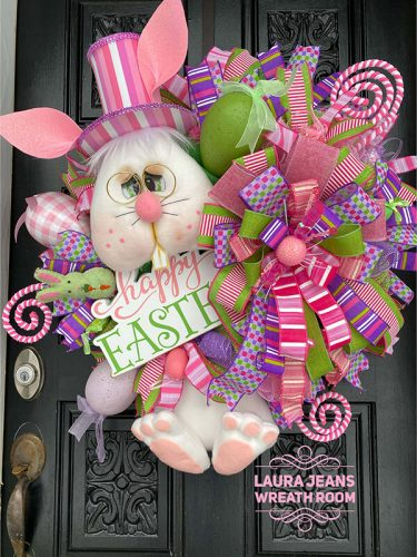 30 Lovely Easter Wreaths Ideas for Front Door Decor