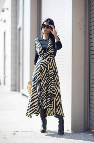 4 Classical Elements for Retro Style Outfits - Psychedelic Zebra Pattern