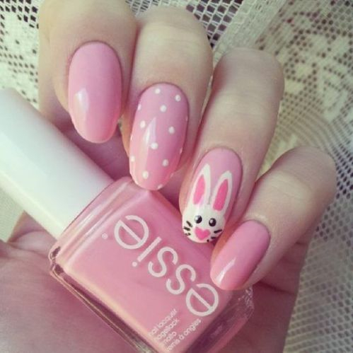32 Super Cute Easter Bunny Nail Art Ideas to Try This Spring