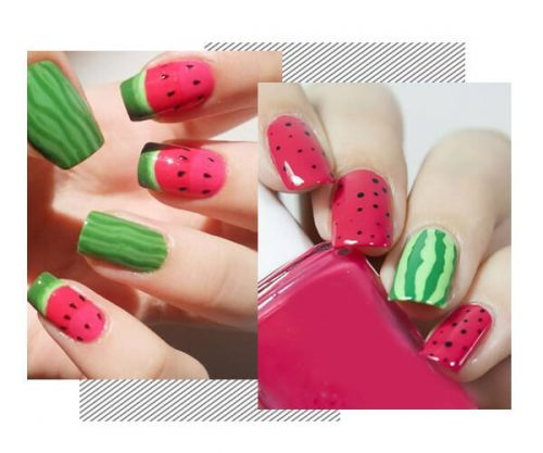 35 Gorgeous Watermelon Manicure Ideas to Cool Your Summer
